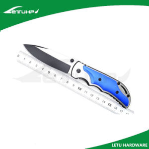 Partial Black Finish Stainless Steel Folding Camping Knife