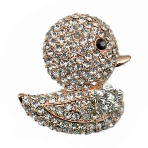 Silver Plated Full Rhinestone Lovely Duck Classical Brooch pictures & photos