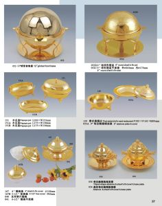 Luxury Gold Plated Food Bowl for Hotel Banquet (XWF21-2) pictures & photos