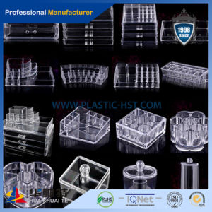 Wholesale 3 or 5 Tier Lucite Plastic Crystal Clear Custom Acrylic Makeup Organizer pictures & photos