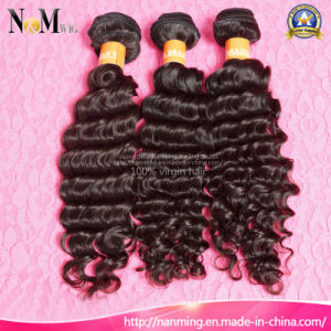 Wholesale 7A Grade 100% Virgin Remy Brazilian Deep Curly Human Hair Weft pictures & photos