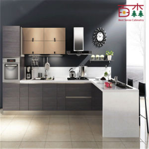 European Standard High Gloss Black Lacquer Kitchen Cabinet