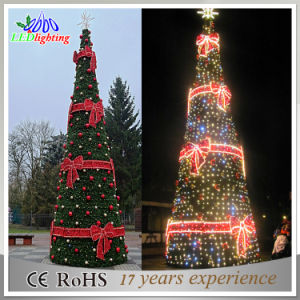 optical fiber giant led christmas decoration tree outdoor holiday light - Led Light Christmas Decorations