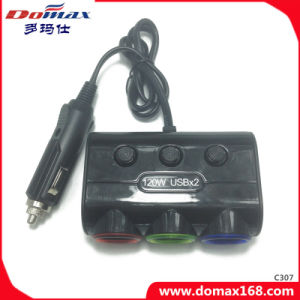 Car Accessories 3 Sockets Refillable Smocking Electronic Splitter Lighter pictures & photos