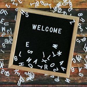 hot selling felt letter board felt board letters10x10 black felt letter board