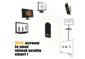 Visual Acurity Eye Chart Software Optometry with Remote Control