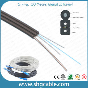 Hot Sale Low Cost Factory Price All Dielectric 1/2/4 Cores Fibers Drop FTTH Fiber Optic Cable (GJYXFCH) pictures & photos
