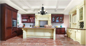 Antique Cherry Solid Wood Kitchen Cabinets