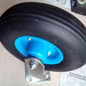 Heavy Duty Rubber PU Foam Solid Wheel Swival Caster pictures & photos