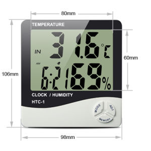 Decorative Indoor Thermometer Humidity HTC-1