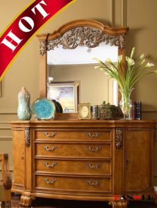 Wooden Furniture Solid Wood Dressing Table With Mirror