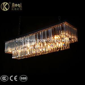 Black Rectangle Crystal Pendant Light pictures & photos