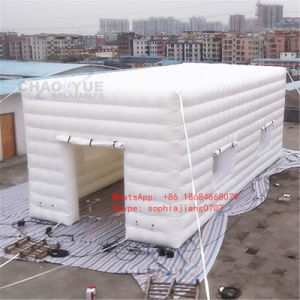 New White Airtight Inflatable Cube Tent with Ce Blower
