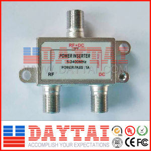 CATV Line 5-2400MHz Tap Splitter Female to Female Power Inserter pictures & photos