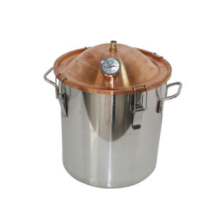 10L 3gal Stainless Steel Portable Household Water Distiller Boiler Red Copper Capped pictures & photos
