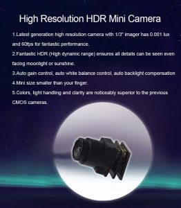 Dynamic Range120dB, Full 60fps, 90 Degree NTSC System Mini Camera pictures & photos