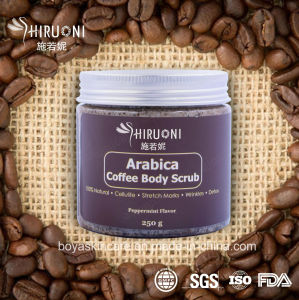 100% Natural Arabica Coffee Body Scrub with Peppermint Flavor