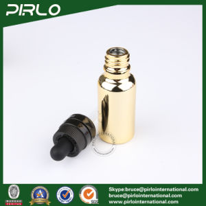 20ml 30ml 50ml 100ml Gold Glass Essential Oil Bottles E-Liquid Dropper Bottles pictures & photos