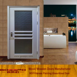 Interior Frosted Glass Kitchen Wooden Door (GSP3 040)
