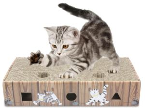 Cat Toy Cat Scratch Plate Large Hole Ball Catch Plate Box pictures & photos