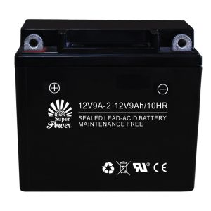 Maintenance Free Battery (12N9L) Used for Motorcycle, AGM Sealed Maintenance Free Type, with Capacity 9ah and Voltage 12V, 12V9A-2