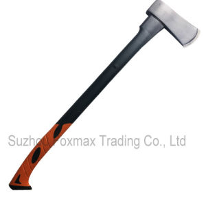 Axe with Fiberglass&TPR Handle, Made of Drop-Forged Steel Head (HAX-006)