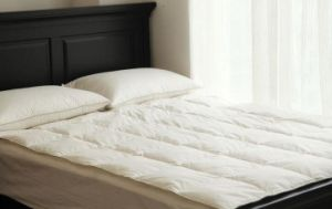 Silk Cover White Goose Duck Down Feather Blanket for Summer