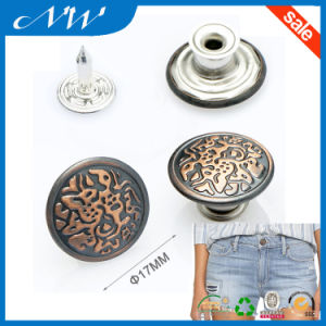 Custom Made Metal Buttons for Jeans and Coat