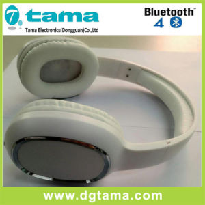 Bluetooth V3.0+EDR Noise-Cancelling Overhead Headband Wireless Bluetooth Headphone White Color