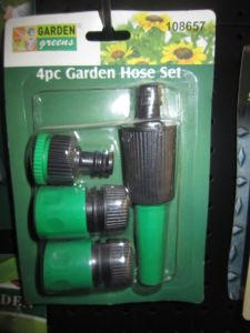 Adjustable Nozzle Set with 1/2-Inch Hose Connector, Made of Plastic, OEM Orders Are Welcome