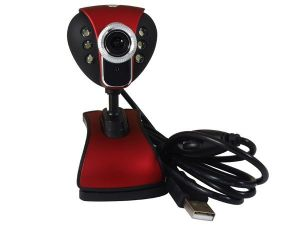 CMOS Webcam/PC Camera 12. M With 6 LED Night Vision USB 2.0