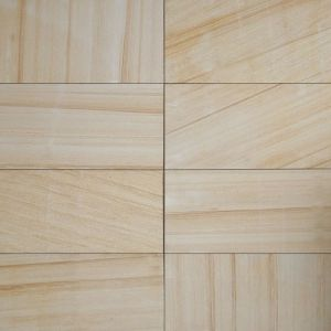 Honed Yellow Beige Sandstone Tiles Pavers For Flooring Wall Bathroom