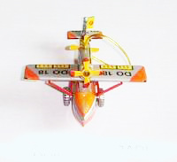 Tin Christmas Ornament (Twin Propeller Plane Ornament)