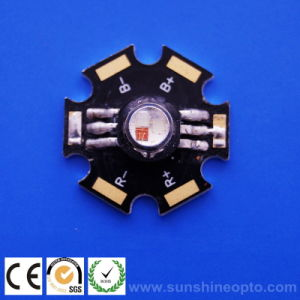 3W RGB LED W/Star PCB, 3pairs Feet (SP3WRGB S/PCB)