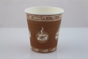 Coffee 2 Go Single Walled Insulated Vending Paper Cup for Coffee Drinking pictures & photos