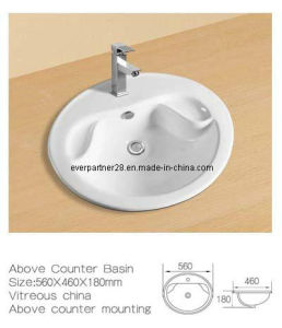 Above Counter Ceramic Washbasin, Ceramic Cabinet Basin pictures & photos