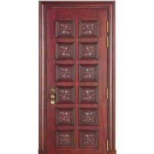 China Indian Main Door Design Security Steel Wooden Door China