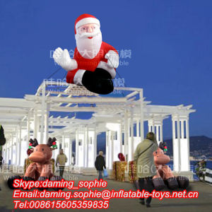 Christmas Inflatable Old Santa Claus For Outdoors Decoration