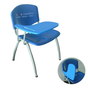 Two Layer Blown PP Student Chair, Best Student Chair, Student Chair School Chair with Writing Pad pictures & photos