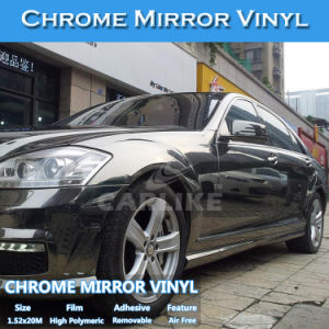 China Black Color Chrome Vinyl Film Car Wrapping Paper Sticker
