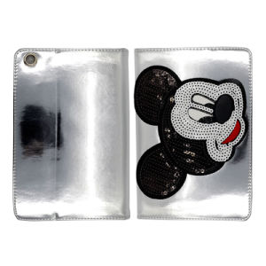 Mickey Head with Sleep Function PU/Leather Cases for iPad