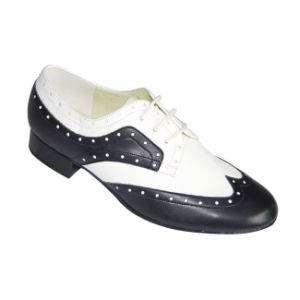 Black&White Leather Men′s Ballroom Dance Shoes pictures & photos