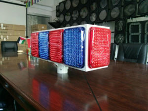Large Size Solar Flashing Light with Red and Blue LED pictures & photos