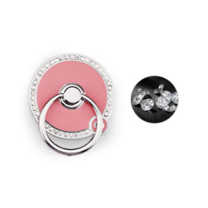 Round Shape Crystal Cell Phone Ring Holder for Mobile Phone