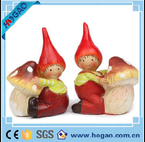 Resin Pretty Girl with The Mushroom Home Decoration pictures & photos