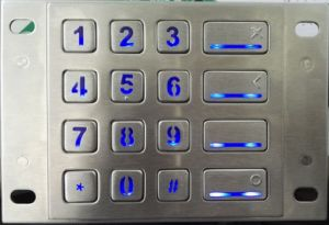Metal Backlight Keypad for Access Control (KMY3502B-2-BL) pictures & photos