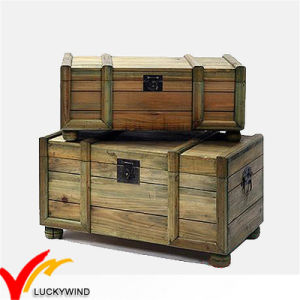 Solid Wood Large Size Trunk in Natural Color for Reorganizing pictures & photos