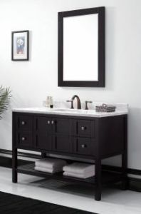 Wooden One Main Cabinet Mirrored Modern Bathroom Cabinet (JN-8819713C)