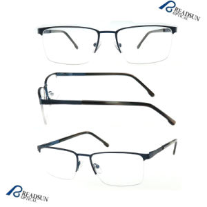 China Wholesale Fashion Half Optical Eyeglasses Frames (OM134192) pictures & photos