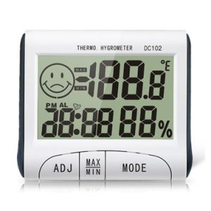 DC102 Large LCD Display Digital Temperature Humidity Meter Clock Tester pictures & photos